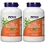 NOW Foods - Liver Detoxifier & Regenerator - 180 Capsules (Pack of 2)