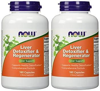 NOW Foods - Liver Detoxifier & Regenerator - 180 Capsules (Pack of 2)