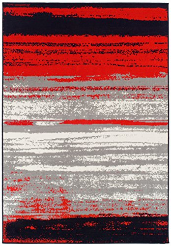 Modern Area Rugs Red Rugs for Living Room 5x7 Clearance Under 50