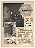 1951 Caterpillar Tractor Factory Jenkins Valves Photo Original Print Ad
