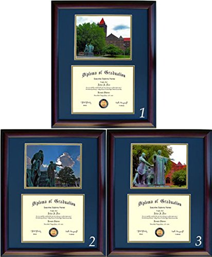 Illinois Diploma Frame - Photo Option #3 - Cherry Frame ()