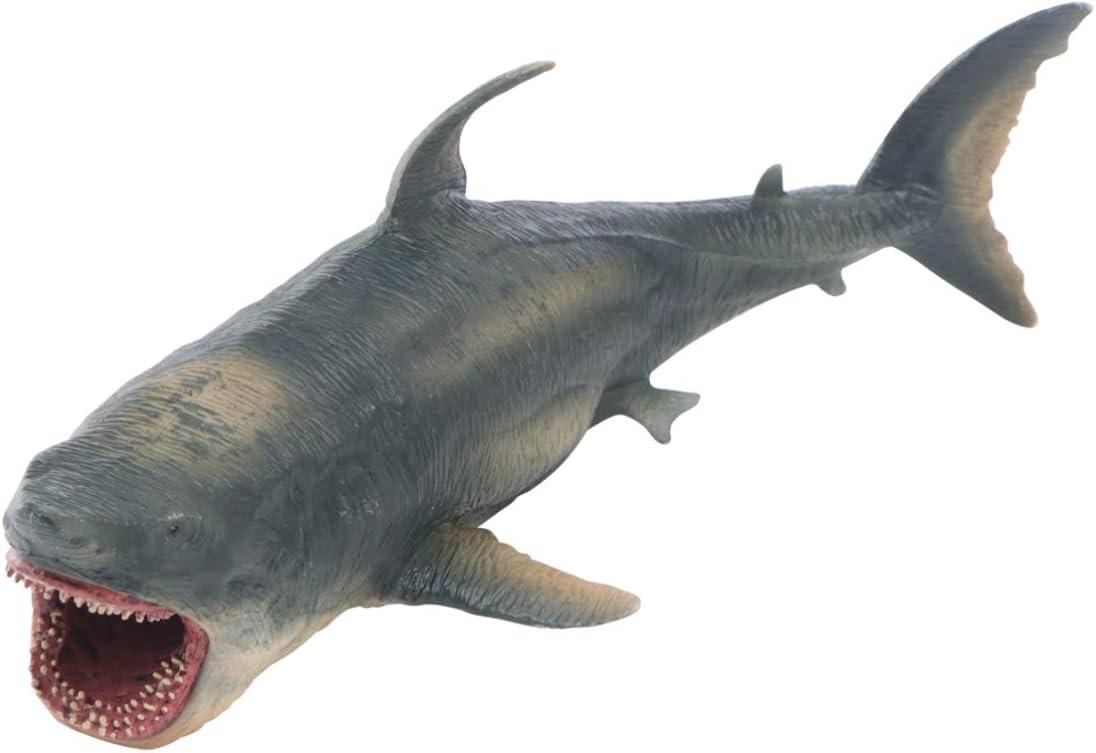 BESPORTBLE Kunststoff Hai Modell Lebensechte Megalodon Hai Ozean Tier Handwerk Ornament Seefisch Bildung Kognitive Spielzeug f/ür Kinder Kinder