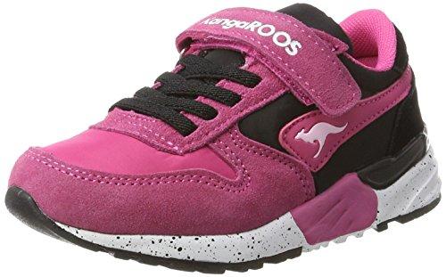 KangaROOS Unisex-Kinder Chinu EV Sneaker Schwarz (Jet Black/Blossom Pink)