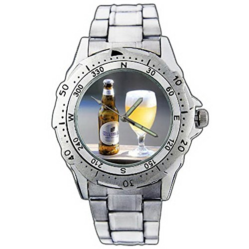 mens-wristwatches-pe01-1139-hoegaarden-witbier-beer-bottle-cold-cool-stainless-steel-wrist-watch