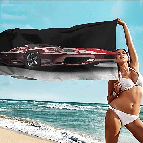 Newborn Bath Towel,Cars Automotive Industry Theme Powerful Engine Fast Technology Prestige Performance,Home Hotel Office Washcloths,W40x20L, Red Black White ()