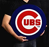 Chicago Cubs Lasercut Steel Logo Sign Wall Sign 24 x 24in