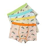 Boys Underwear Brief 4 Pack Boxer Brief Stretch aircraft Print Underwear