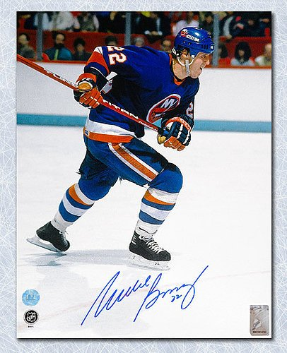 Mike Bossy New York Islanders Autographed Rushing 11x14 Photo - Signed Hockey Pictures