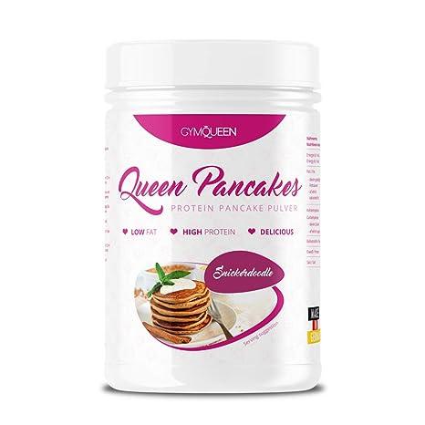 GymQueen Snickerdoodle - Polvo para tortitas de proteína bajo en carbohidratos, 500 gr