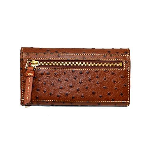 Continental Ostrich Wallet Cognac Dooney amp; Bourke Clutch pEqvtw