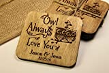Personalized Coasters - Set of 4 - Owl Always Love You