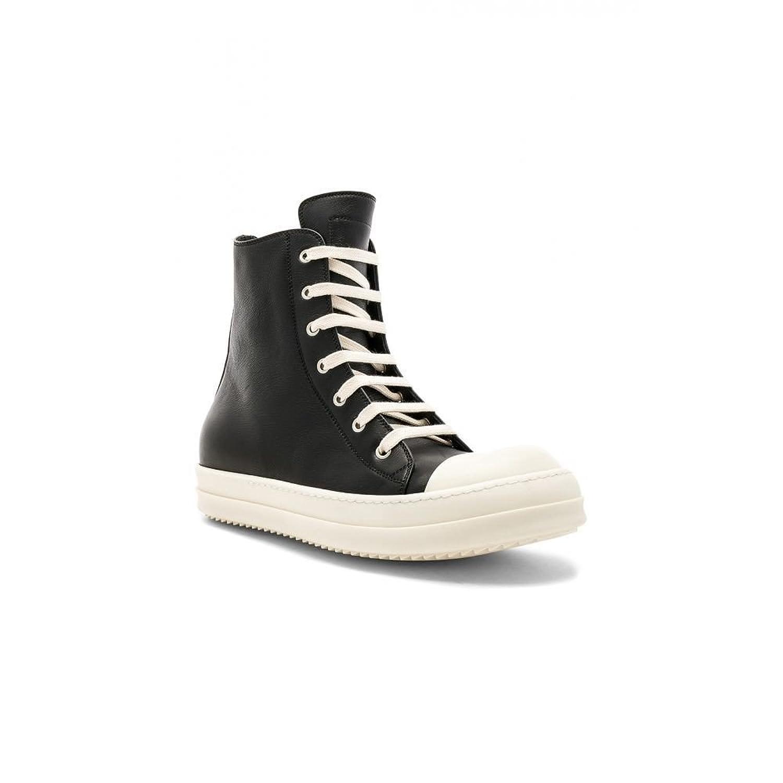(リック オウエンス) Rick Owens メンズ シューズ靴 スニーカー Leather Sneakers [並行輸入品] B07F78NKNT