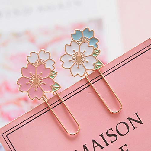 (Cherry Sakura Colorful Paper Clip Bookmark Promotional Gift Stationery School Office Supply Escolar Papelaria Random Design)