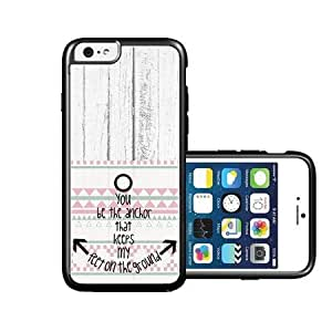 RCGrafix Brand You-Be-The-Anchor-White-Wood iPhone 6 Case - Fits NEW Apple iPhone 6
