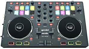 Gemini Slate Serato - Controlador para DJ (USB/MIDI, 2 canales), color negro