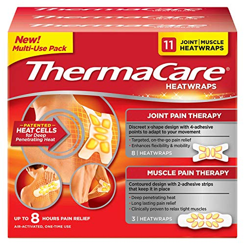 ThermaCare Heatwraps, Joint and Muscle Heatwraps, Up to 8 Hours Pain Relief (11 Heatwraps)