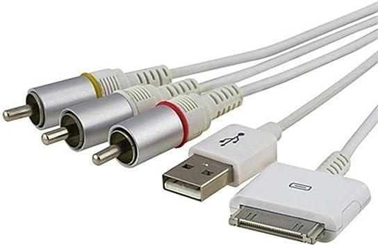 fivetech nos vídeo compuesto a tv-rca Cable USB para Apple iPad 1 ...