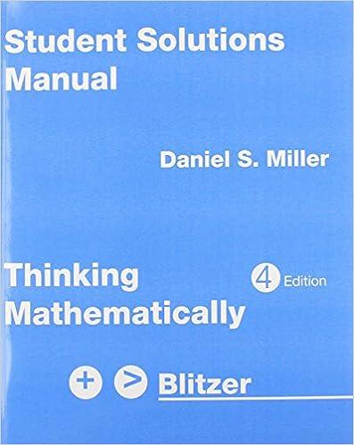 Exam prep for thinking mathematically by blitzer, 4th ed. : mznlnx.