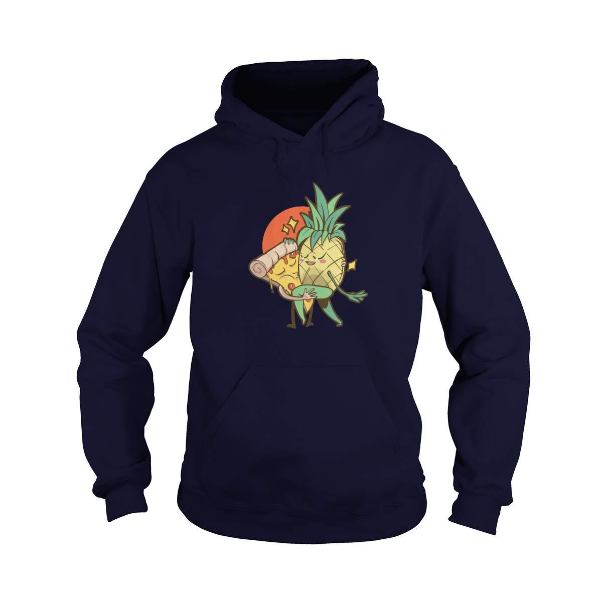 Pizza Pineapple Forbidden Love Adult Hooded Sweatshirt