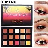 15 Colors Sunset Dust BEAUTY GLAZED Shimmer Matte Glitter Waterproof Eyeshadow Palette Eye Shadow Makeup Powder Palette
