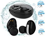 Waterproof Bluetooth Earbuds,MorePro Touch Control Headphone Wireless Car Earpiece with Charging Case, Sports Mini Invisible Tws Stereo Earphone with Mic for Smartphone /iOS/ Android