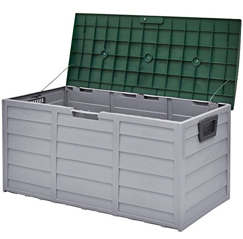 eXXtra Store 70 Gallon Outdoor Deck Storage Box 44'' Garage Patio Shed Tool Bench Container + eBook by eXXtra Store