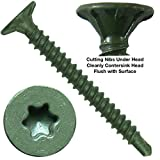 #8 x 1-5/8'' Cement Board Torx/Star Head Screws DRILL Point for Fastening Cement Backer Board/Cement Board/Tile Board - 1 Pound (129 Screws) - Torx/Star Drive Cement Board Screw - T-25 Torx Head