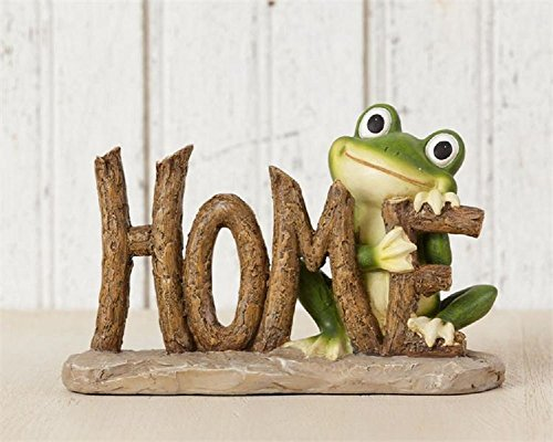 Home Sweet Frog Resin Tabletop Decorative Sign