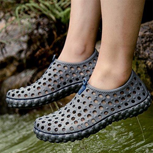 Männer Clog Wasser Schuhe Sommer Strand bequeme atmungsaktive Sandalen gray