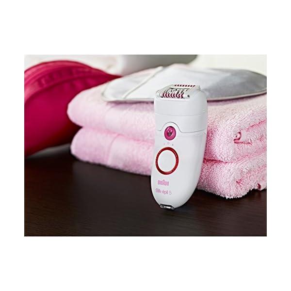 Braun Epilator Silk-epil 5 5-280, Hair Removal for Women, Shaver & Bikini Trimmer, Cooling Glove