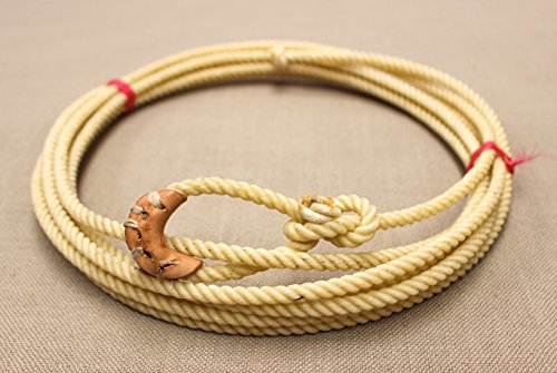 M-Royal 20 Foot White Soft Kid Rodeo Lasso Lariat with Burner