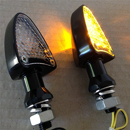 XKH Group Motorcycle Led Dual Sport Turn Signal Indicators Blinkers Lights Black Base Clear Lens - Sport Dual Lights