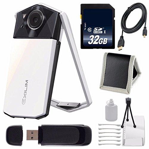 Casio Exilim EX-TR70 Selfie Digital Camera (White) (International Version) No Warranty + (Card Ex Wallet)