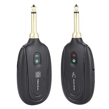 Sistema de Guitarra Inalámbrica, Transmisor Inalámbrico UHF y Receptor de Audio, Con Carga USB