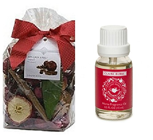 Claire Burke Potpourri & Refresher Oil Set-Applejack & Peel
