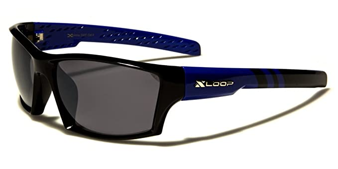 a81cdc4847 X-Loop Men s Colorful Two Tone Wrap Around Baseball Cycling Running Sports  Sunglasses
