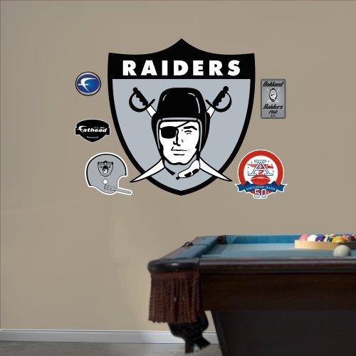 FH1414058 AFL Oakland Raiders Logo Vinyl Wall Graphic Decal Sticker