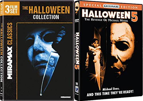 Michael Myers: The Later Years 4 Film Set - Halloween: H20, Ressurection, The Curse of Michael Myers and Halloween 5: The Revenge of Michael Myers 4-Movie Bundle