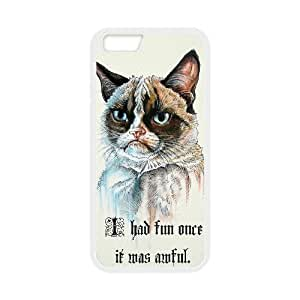 Lovely Grumpy Cat Cartoon Phone Case For iPhone 6,6S Plus 5.5 Inch EQ56043
