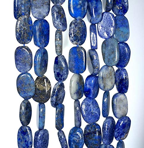 Bead Jewelry Making 10X7-13X8MM Lapis Lazuli Gemstone Blue Pebble Nugget Loose Beads 13-14