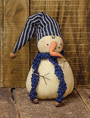 (hm Stuffed Fabric Snowman Snow E. Drift - Country Winter Decor)