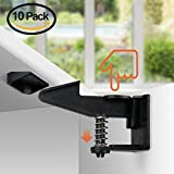 Cabinet Locks, Upgraded Baby Proofing Child Safety Cabinet Locks, 10 Packs, Easy To Install Invisible Design Drawer Locks – No Need Tools, Drilling For Drawer, Cabinet, Closets