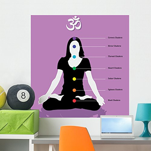 Wallmonkeys Chakras Wall Mural Peel and Stick Graphic (36 in H x 36 in W) WM289237 (Asia Relaxing Body)