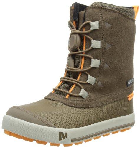 Merrell SNOW BANK WATERPROOF KIDS, Jungen Trekking- & Wanderstiefel, Braun (CHOCOLATE CHIP), 33 EU