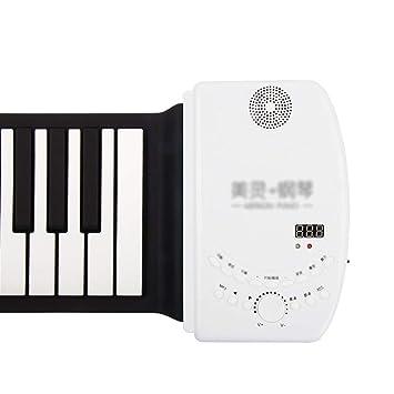 Pianos Instrumentos Musicales Rollo Manual 88 Teclas Teclado Plegable Portátil Teclado para Principiantes Teclado Grueso Fácil