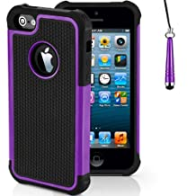 Case for Apple iPhone 5s 5 SE Shockproof Phone Cover with Screen Protector / iCHOOSE / Purple
