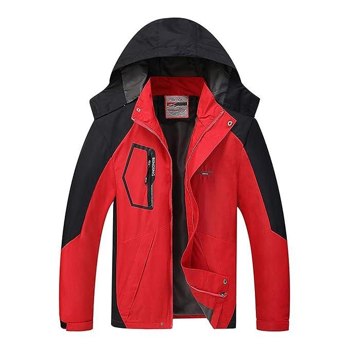 MAZF Giacca da Sci Impermeabile Giacca Antipioggia Invernale Abbigliamento  Outdoor Maschile Giacca a Vento Rossa L f4c2efada52