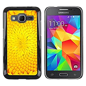 Be Good Phone Accessory // Dura Cáscara cubierta Protectora Caso Carcasa Funda de Protección para Samsung Galaxy Core Prime SM-G360 // Flower Petal Sunflower Summer