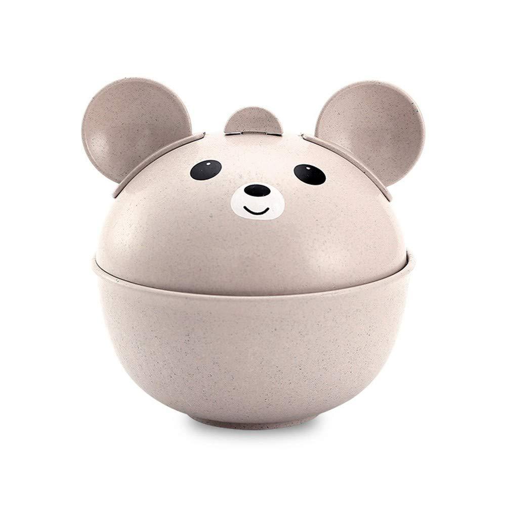 WWDDVH Dauerhafte Geschirr Der Kinder/Karikaturbambusfaserweizen-Pandaschüssel/Umweltfreundlicher Babyanzug