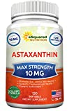 Cheap aSquared Nutrition Astaxanthin Supplement – Pure Natural Astaxanthin Pills from Haematococcus Pluvialis Extract – Max Strength 10mg – 120 Softgels